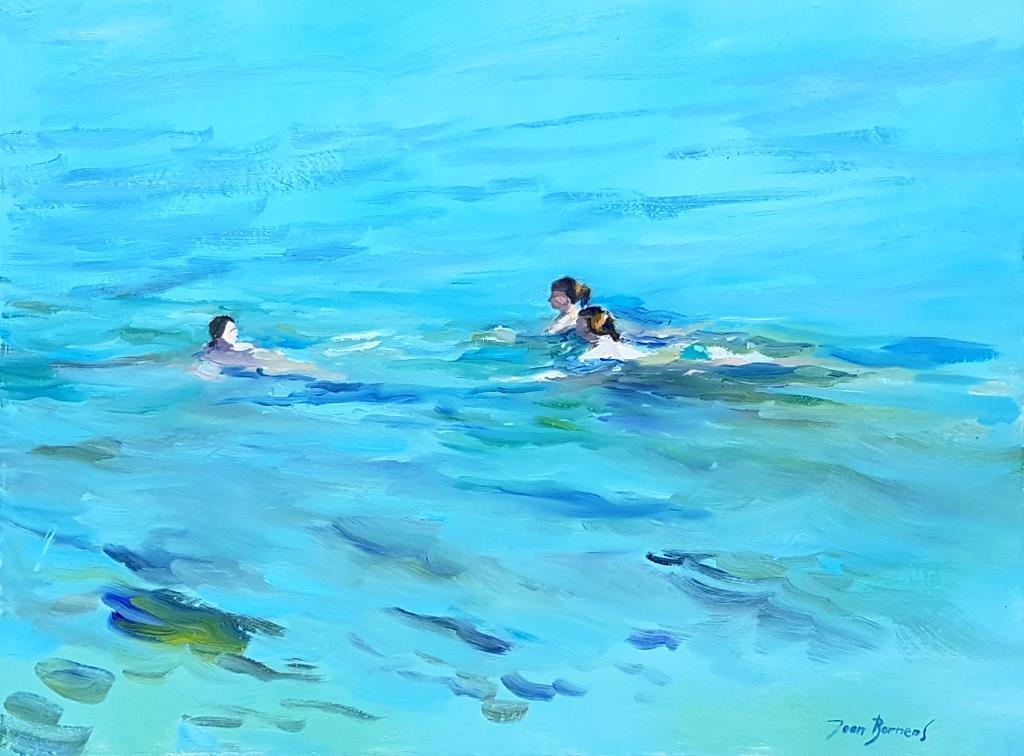 Nage et nage (Huile sur toile, 12P)